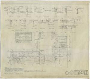 Primary view of object titled 'Abilene Womans Club Building, Abilene, Texas: Second Floor Framing Plan'.