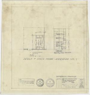 Primary view of object titled 'High School Building, Pecos, Texas: Details of Stack Room'.