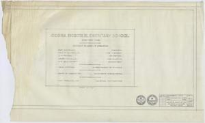 Primary view of object titled 'High School Gymnasium, Ozona, Texas: Title Page'.