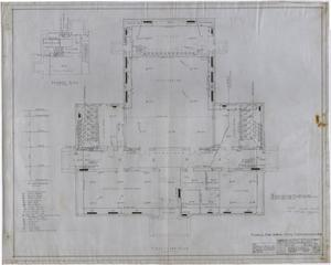Primary view of object titled 'High School Building, Rotan, Texas: First Floor Mechanical Plan'.