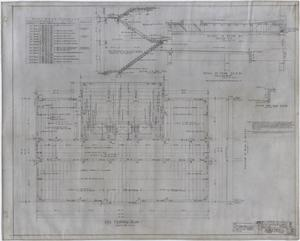 Primary view of object titled 'High School Building, Rotan, Texas: Roof Framing Plan'.