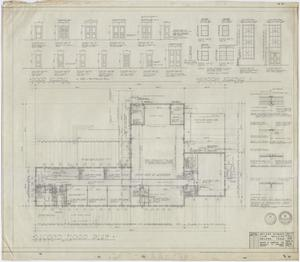 Primary view of object titled 'Abilene Womans Club Building, Abilene, Texas: Second Floor Plan'.