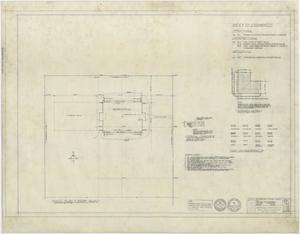 Primary view of object titled 'High School Building, Pecos, Texas: Index to Drawings'.