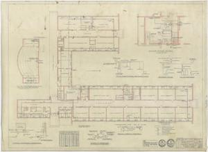 Primary view of object titled 'High School Building, Pecos, Texas: Heating Plan'.