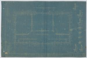 Primary view of object titled 'School Building/Auditorium, Oplin, Texas: Foundation Plan'.