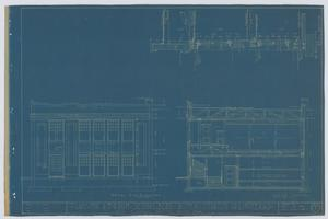 Primary view of object titled 'School Building/Auditorium, Oplin, Texas: Sections and Elevation'.