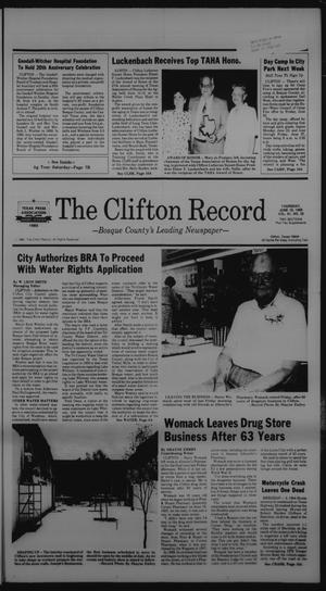 Primary view of object titled 'The Clifton Record (Clifton, Tex.), Vol. 91, No. 25, Ed. 1 Thursday, June 19, 1986'.