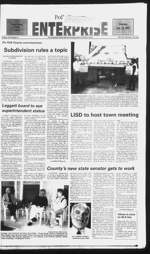 Primary view of object titled 'Polk County Enterprise (Livingston, Tex.), Vol. 125, No. 4, Ed. 1 Sunday, January 14, 2007'.