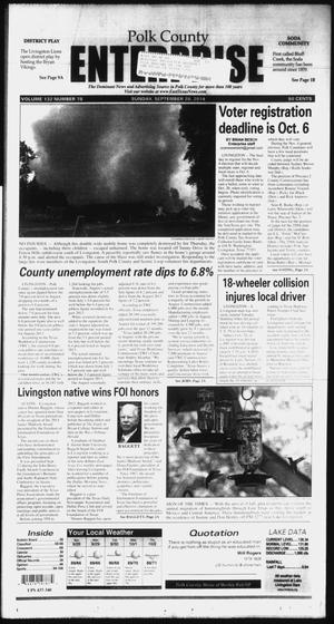 Primary view of object titled 'Polk County Enterprise (Livingston, Tex.), Vol. 132, No. 78, Ed. 1 Sunday, September 28, 2014'.