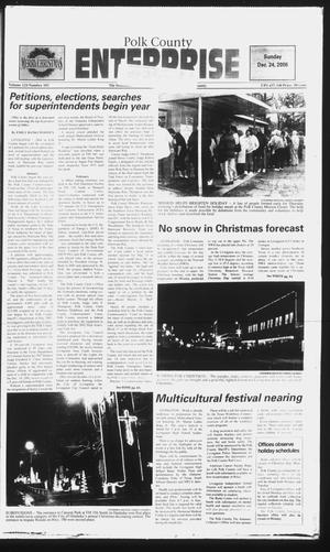Primary view of object titled 'Polk County Enterprise (Livingston, Tex.), Vol. 124, No. 103, Ed. 1 Sunday, December 24, 2006'.