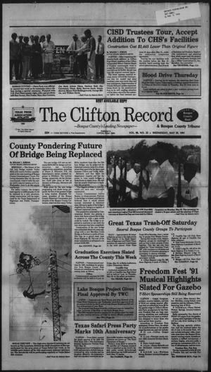 Primary view of object titled 'The Clifton Record (Clifton, Tex.), Vol. 96, No. 22, Ed. 1 Wednesday, May 29, 1991'.