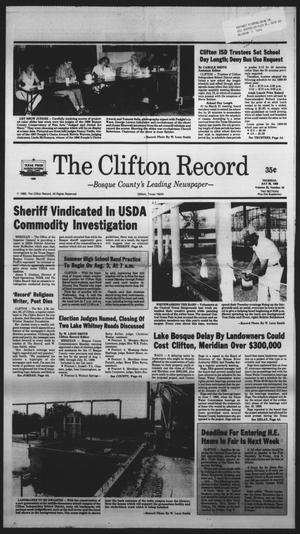 Primary view of object titled 'The Clifton Record (Clifton, Tex.), Vol. 93, No. 30, Ed. 1 Thursday, July 28, 1988'.