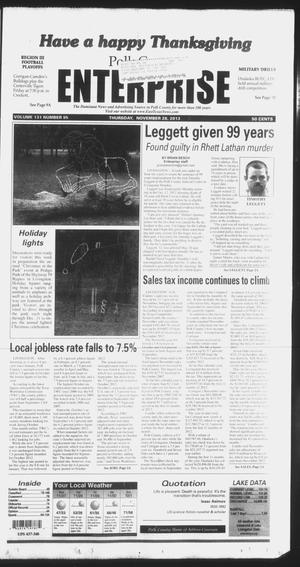 Primary view of object titled 'Polk County Enterprise (Livingston, Tex.), Vol. 131, No. 95, Ed. 1 Thursday, November 28, 2013'.