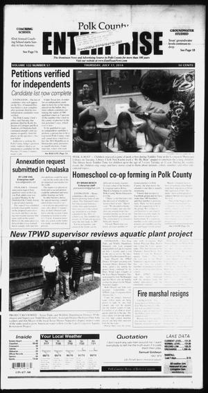 Primary view of object titled 'Polk County Enterprise (Livingston, Tex.), Vol. 132, No. 57, Ed. 1 Thursday, July 17, 2014'.