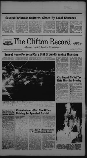 Primary view of object titled 'The Clifton Record (Clifton, Tex.), Vol. 91, No. 50, Ed. 1 Thursday, December 11, 1986'.