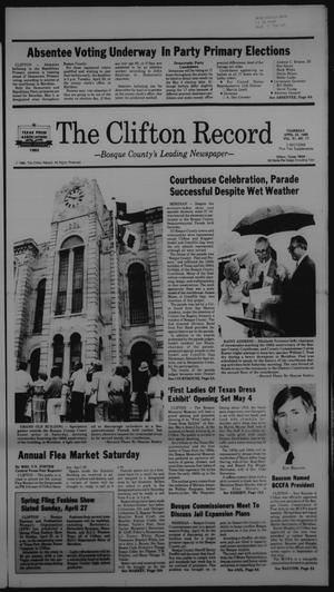Primary view of object titled 'The Clifton Record (Clifton, Tex.), Vol. 91, No. 17, Ed. 1 Thursday, April 24, 1986'.