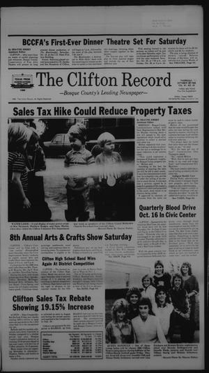 Primary view of object titled 'The Clifton Record (Clifton, Tex.), Vol. 91, No. 42, Ed. 1 Thursday, October 16, 1986'.
