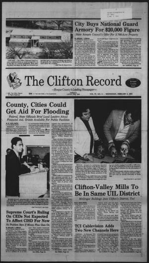 Primary view of object titled 'The Clifton Record (Clifton, Tex.), Vol. 97, No. 6, Ed. 1 Wednesday, February 5, 1992'.