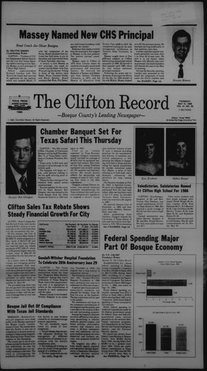 Primary view of object titled 'The Clifton Record (Clifton, Tex.), Vol. 91, No. 20, Ed. 1 Thursday, May 15, 1986'.