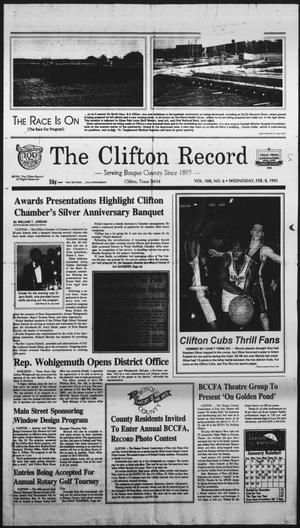 Primary view of object titled 'The Clifton Record (Clifton, Tex.), Vol. 100, No. 6, Ed. 1 Wednesday, February 8, 1995'.