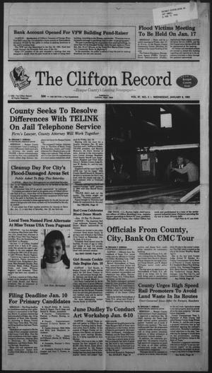 Primary view of object titled 'The Clifton Record (Clifton, Tex.), Vol. 97, No. 2, Ed. 1 Wednesday, January 8, 1992'.