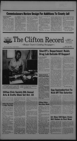 Primary view of object titled 'The Clifton Record (Clifton, Tex.), Vol. 91, No. 37, Ed. 1 Thursday, September 11, 1986'.