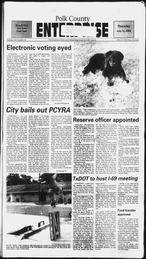 Primary view of object titled 'Polk County Enterprise (Livingston, Tex.), Vol. 123, No. 56, Ed. 1 Thursday, July 14, 2005'.