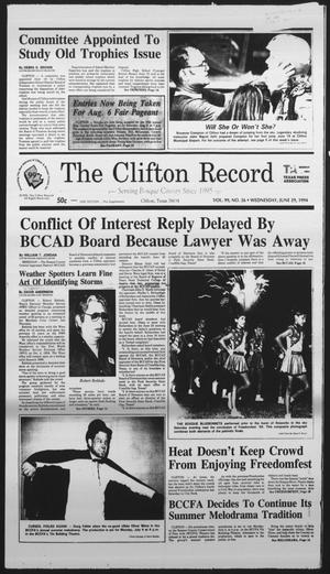 Primary view of object titled 'The Clifton Record (Clifton, Tex.), Vol. 99, No. 26, Ed. 1 Wednesday, June 29, 1994'.
