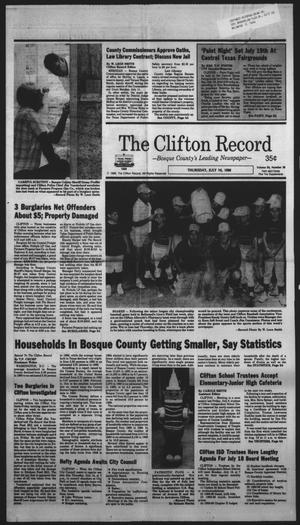 Primary view of object titled 'The Clifton Record (Clifton, Tex.), Vol. 93, No. 28, Ed. 1 Thursday, July 14, 1988'.