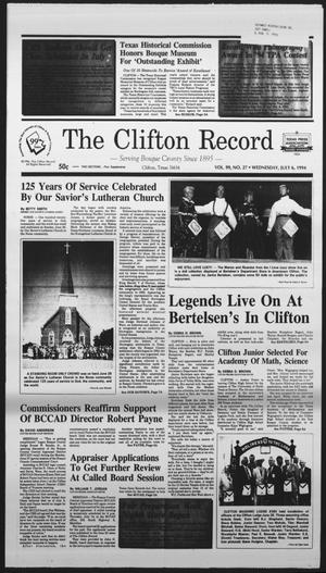 Primary view of object titled 'The Clifton Record (Clifton, Tex.), Vol. 99, No. 27, Ed. 1 Wednesday, July 6, 1994'.
