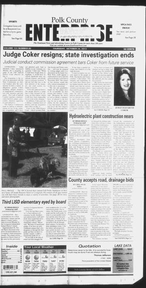 Primary view of object titled 'Polk County Enterprise (Livingston, Tex.), Vol. 131, No. 85, Ed. 1 Thursday, October 24, 2013'.
