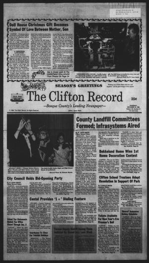 Primary view of object titled 'The Clifton Record (Clifton, Tex.), Vol. 93, No. 51, Ed. 1 Thursday, December 22, 1988'.