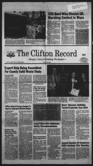 Primary view of object titled 'The Clifton Record (Clifton, Tex.), Vol. 93, No. 43, Ed. 1 Thursday, October 27, 1988'.