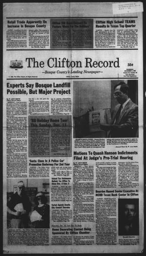Primary view of object titled 'The Clifton Record (Clifton, Tex.), Vol. 93, No. 49, Ed. 1 Thursday, December 8, 1988'.