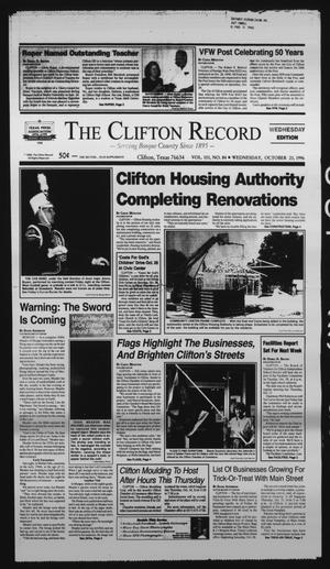 Primary view of object titled 'The Clifton Record (Clifton, Tex.), Vol. 101, No. 84, Ed. 1 Wednesday, October 23, 1996'.