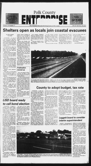 Primary view of object titled 'Polk County Enterprise (Livingston, Tex.), Vol. 123, No. 77, Ed. 1 Sunday, September 25, 2005'.