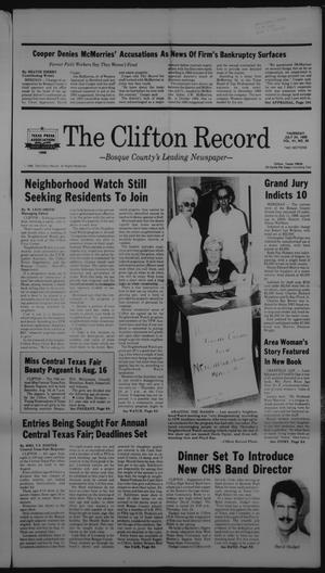 Primary view of object titled 'The Clifton Record (Clifton, Tex.), Vol. 91, No. 30, Ed. 1 Thursday, July 24, 1986'.