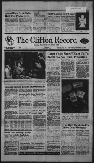 Primary view of object titled 'The Clifton Record (Clifton, Tex.), Vol. 97, No. 47, Ed. 1 Wednesday, November 18, 1992'.