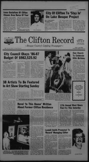 Primary view of object titled 'The Clifton Record (Clifton, Tex.), Vol. 91, No. 35, Ed. 1 Thursday, August 28, 1986'.
