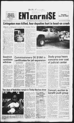 Primary view of object titled 'Polk County Enterprise (Livingston, Tex.), Vol. 125, No. 24, Ed. 1 Thursday, March 29, 2007'.