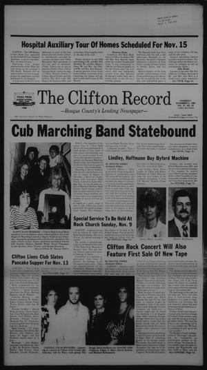 Primary view of object titled 'The Clifton Record (Clifton, Tex.), Vol. 91, No. 45, Ed. 1 Thursday, November 6, 1986'.