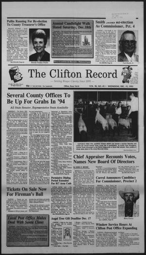 Primary view of object titled 'The Clifton Record (Clifton, Tex.), Vol. 98, No. 49, Ed. 1 Wednesday, December 15, 1993'.