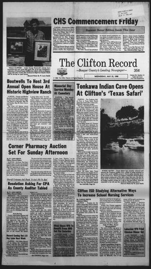 Primary view of object titled 'The Clifton Record (Clifton, Tex.), Vol. 93, No. 21, Ed. 1 Wednesday, May 25, 1988'.