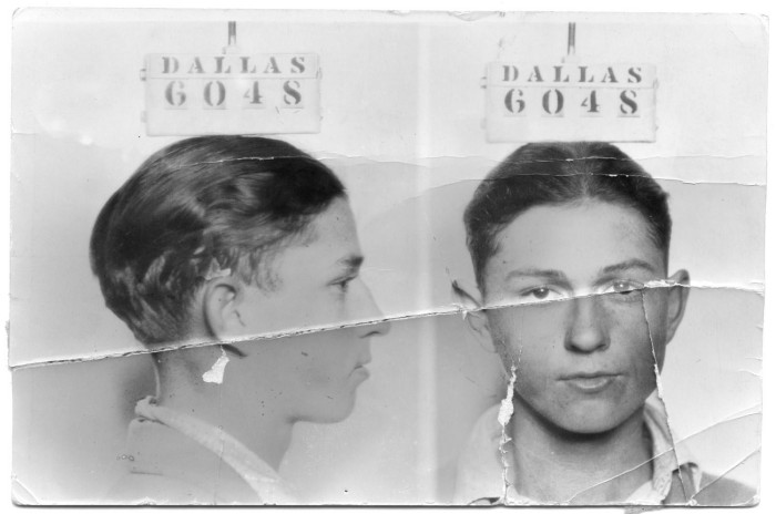 Primary view of object titled '[Clyde Champion Barrow Mug Shot - Dallas 6048 ]