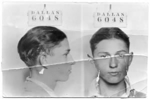 [Clyde Champion Barrow Mug Shot - Dallas 6048]