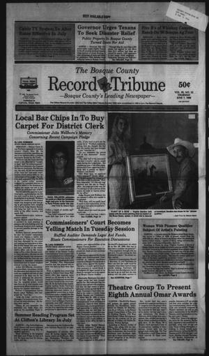 Primary view of object titled 'The Bosque County Record Tribune (Clifton, Tex.), Vol. 95, No. 23, Ed. 1 Thursday, June 7, 1990'.