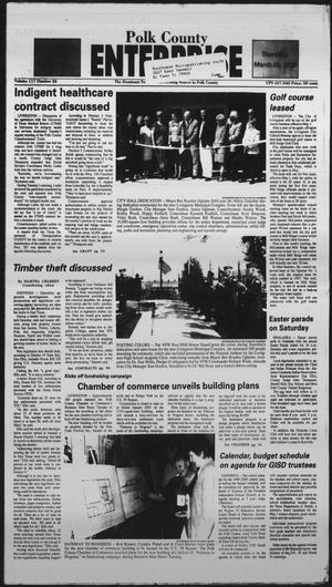 Primary view of object titled 'Polk County Enterprise (Livingston, Tex.), Vol. 117, No. 24, Ed. 1 Thursday, March 25, 1999'.
