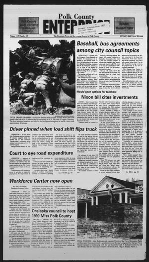 Primary view of object titled 'Polk County Enterprise (Livingston, Tex.), Vol. 117, No. 19, Ed. 1 Sunday, March 7, 1999'.