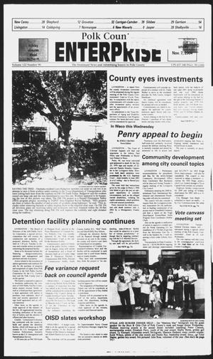 Primary view of object titled 'Polk County Enterprise (Livingston, Tex.), Vol. 122, No. 90, Ed. 1 Sunday, November 7, 2004'.
