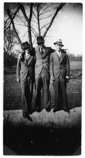 Primary view of object titled '[Clyde Champion Barrow, Henry Methvin and Raymond Hamilton]'.
